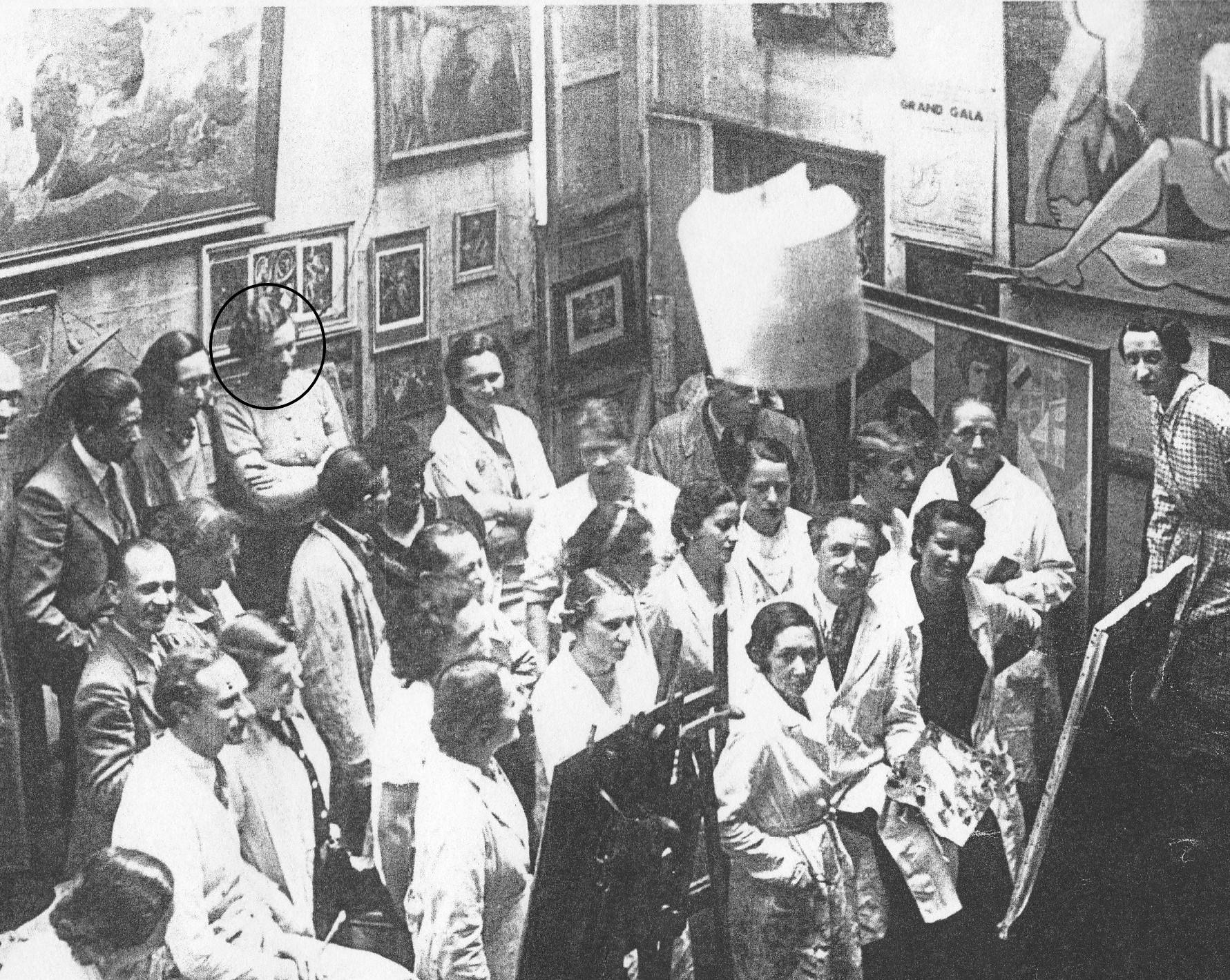 Julie en classe d'examen Académie des arts visuels, La Haye (1923)