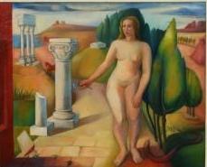 Eva (Parijs, 1937), olieverf, 58x71 cm