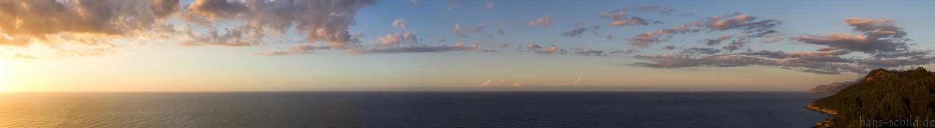 Sonnenuntergand Mallorca Nord-Westküste