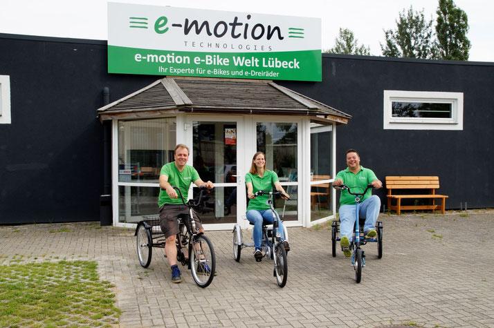 Das Team des Dreirad-Zentrums Lübeck