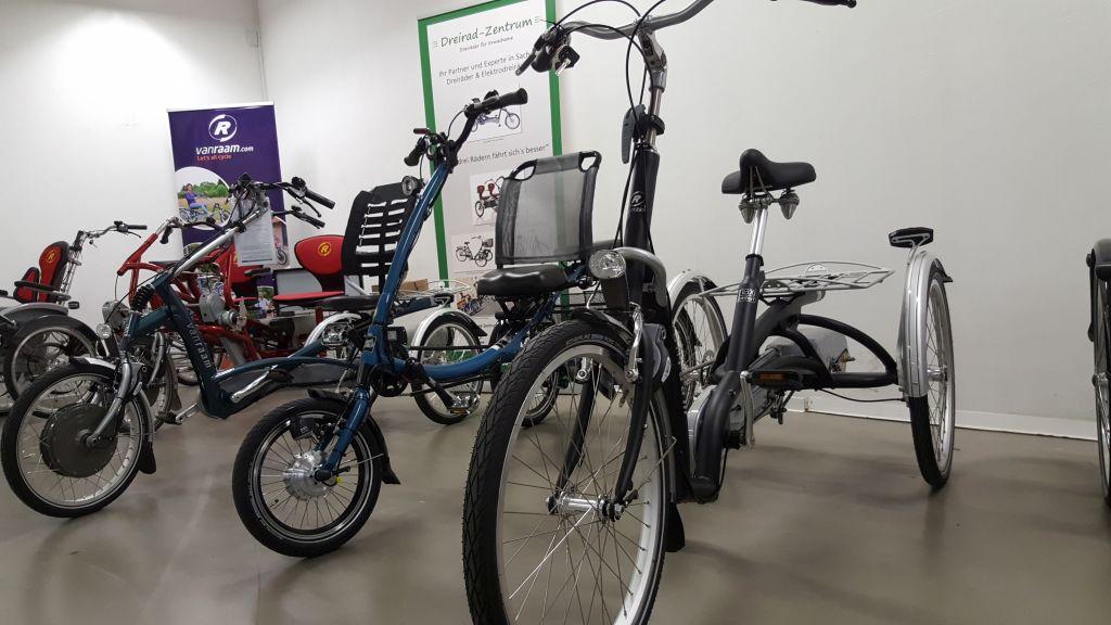 Van Raam und Pfau-Tec Dreiräder und Elektrodreiräder