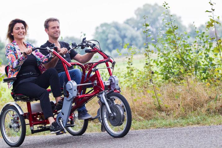 Das Fun2Go Dreirad-Tandem von Van Raam in Bad-Zwischenahn Probefahren und kaufen