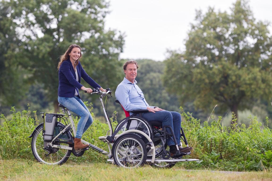 VeloPlus Rollstuhl-Dreirad von Van Raam - Mobil sein auch mit Rollstuhl in Karlsruhe