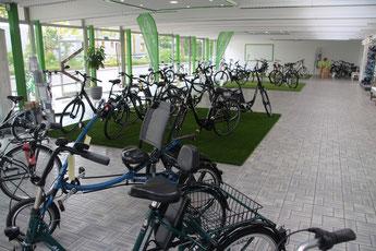 Dreiräder im e-motion Dreirad-Zentrum Kleve