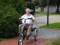Fitnesstraining mit dem Dreirad