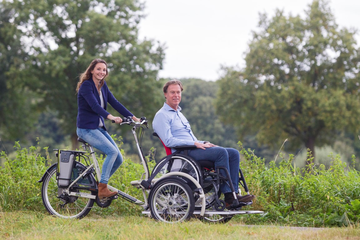 VeloPlus Rollstuhl-Dreirad von Van Raam - Mobil sein auch mit Rollstuhl in Heidelberg