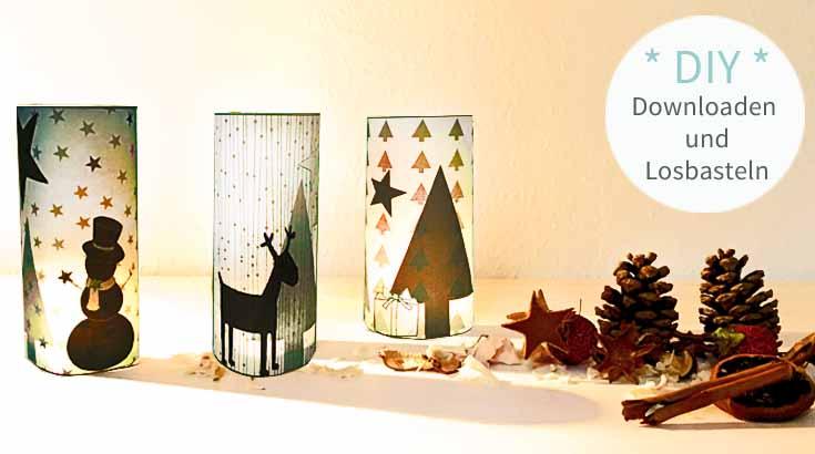 diy, basteln, Weihnachtsdeko, Weihnachten, Teelichtschirm, Druckvorlage, Vorlage, selber machen