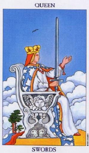 Reina de espadas baraja de tarot interpretación