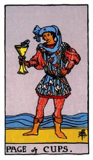 Sota (paje) de copas baraja de tarot interpretación