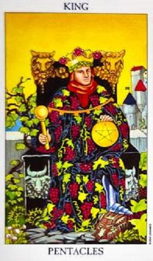 Rey de oros (pentacles, pentáculos) baraja de tarot interpretación