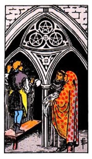 Tres de oros (pentacles, pentáculos) baraja de tarot interpretación