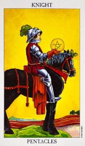 Caballero de oros (pentacles, pentáculos) baraja de tarot interpretación