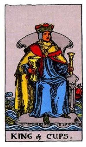 Rey de copas baraja de tarot interpretación