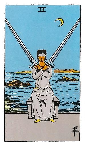 Dos de espadas baraja de tarot interpretación