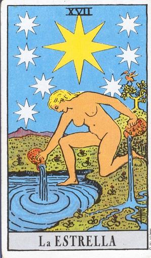 17. La estrella, baraja de tarot, interpretación