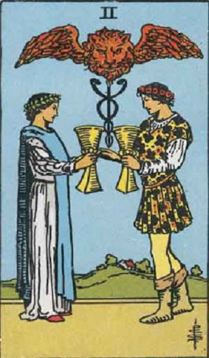 Dos de copas baraja de tarot interpretación
