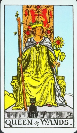 Reina de bastos baraja de tarot interpretación