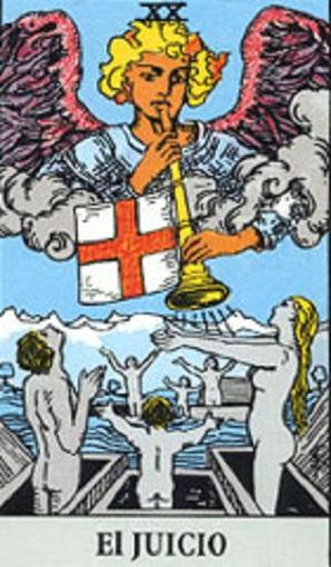 20. El Juicio, Baraja de Tarot, interpretación