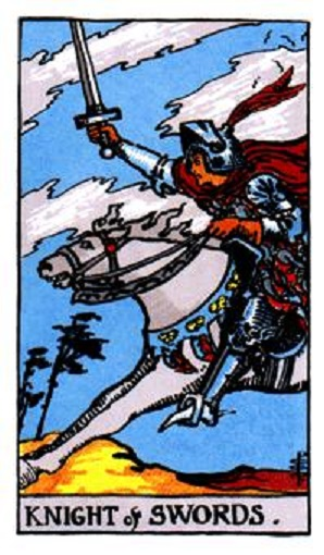Caballero de espadas baraja de tarot interpretación