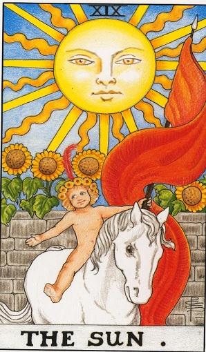 19. El Sol Baraja de Tarot, interpretación