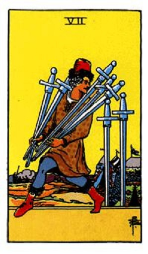 Siete de espadas baraja de tarot interpretación