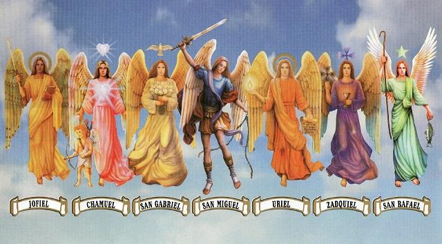 los siete arcángeles, explicación y oración, magia, brujería y hechicería, babalawosnbenito