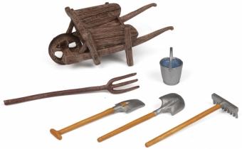Papo The Wheelbarrow and Tools