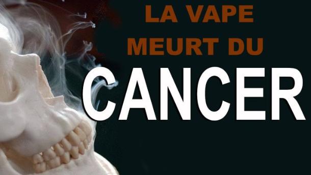 La vape meurt du cancer