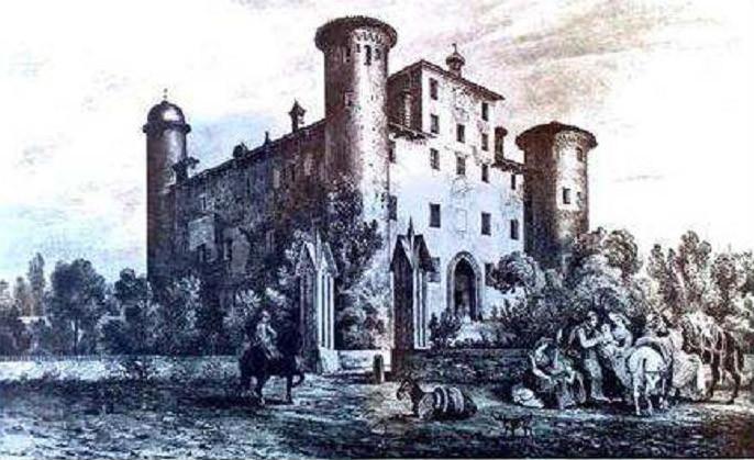Enrico GONIN, Album delle castella feudali della monarchia dei Savoia – 1854 – Castello di Bonavalle