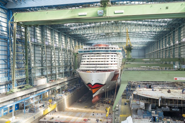 AIDAnova auf der Meyer-Werft // © AIDA Cruises