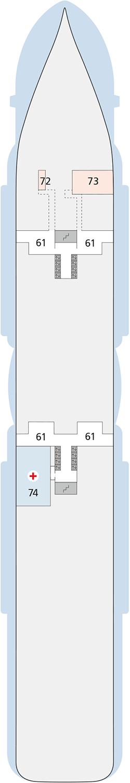 AIDAnova Deck 3 | © AIDA Cruises