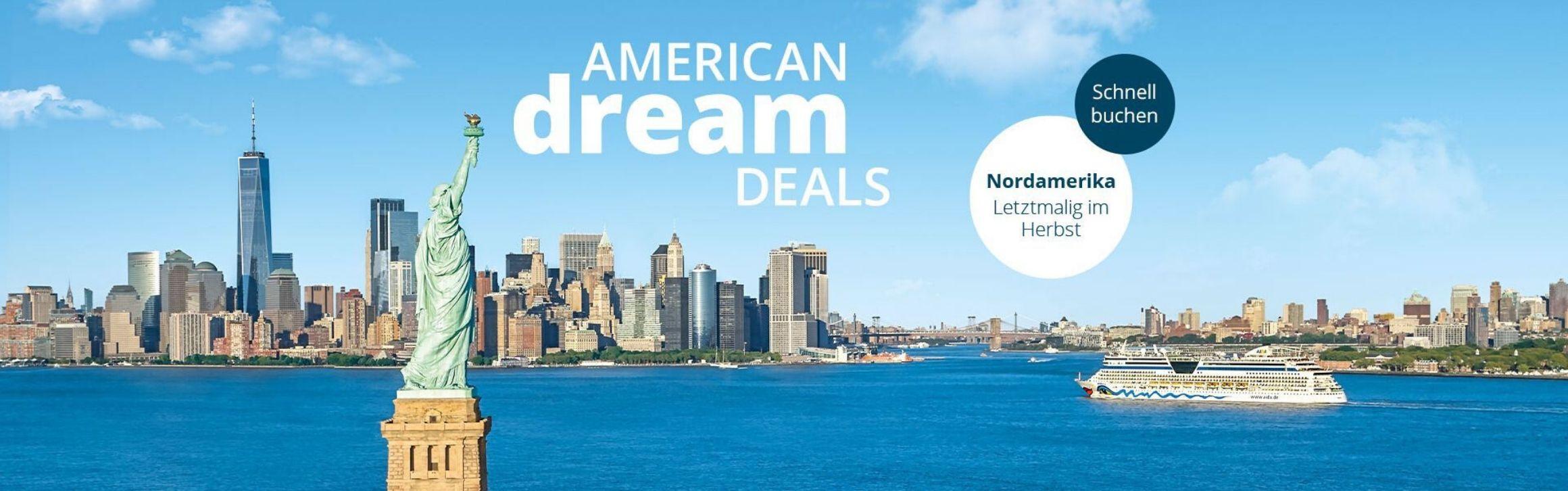 American Dream Deals auf AIDA.de