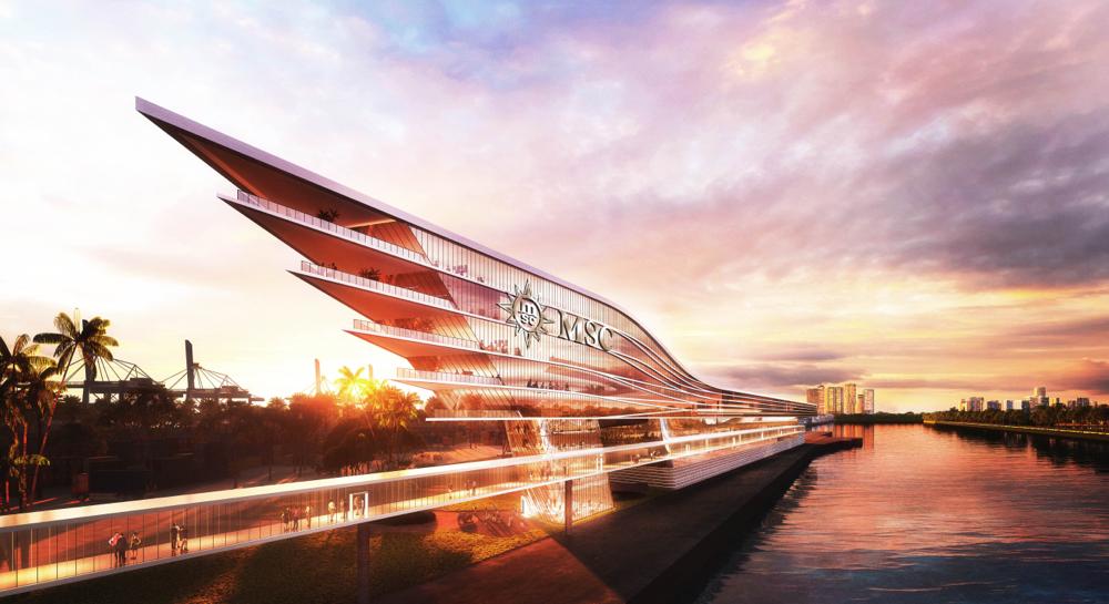 Das neue MSC-Terminal in PortMiami | © MSC Kreuzfahrten