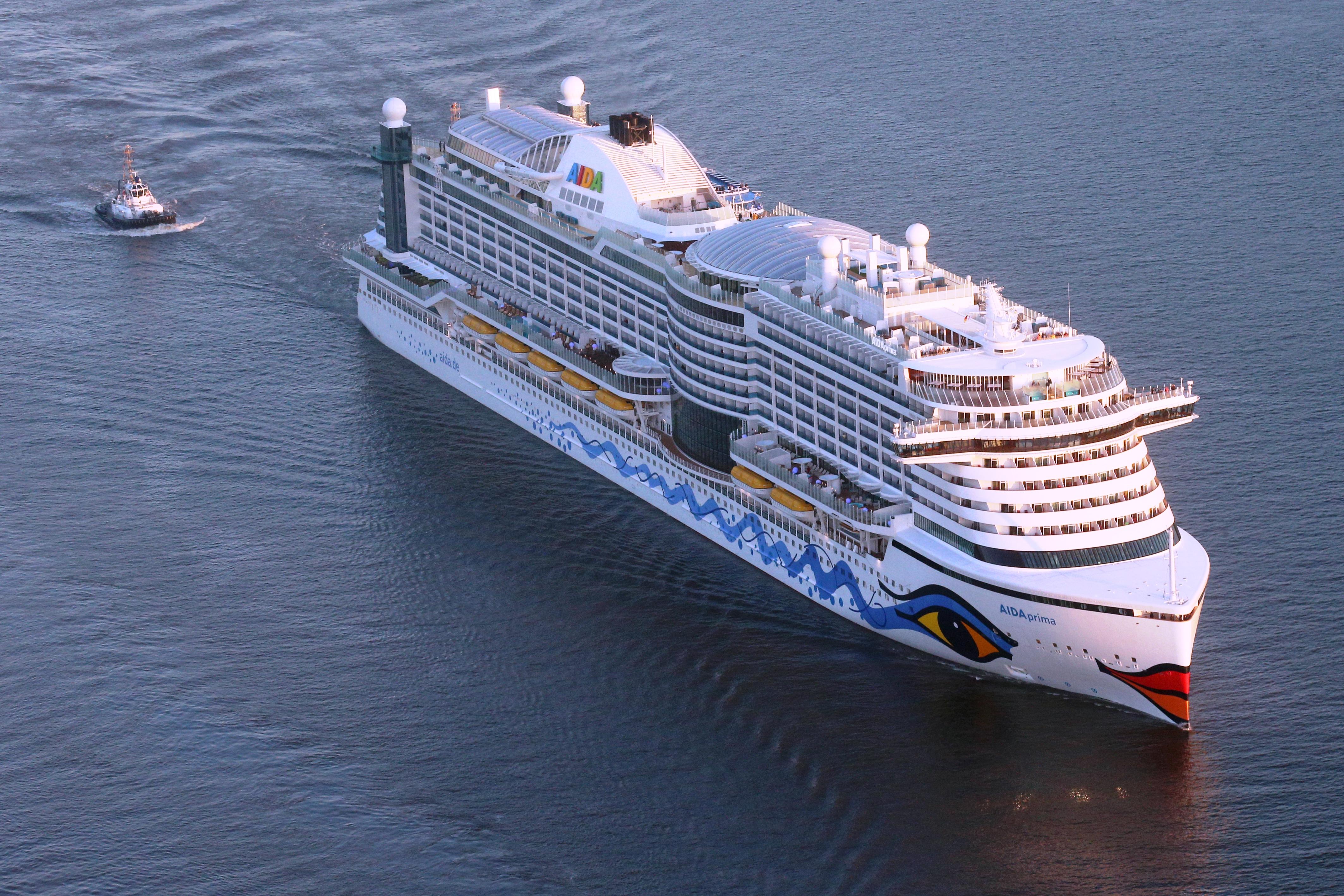 AIDAprima muss wegen einer Überprüfung auf die Werft // © AIDA Cruises