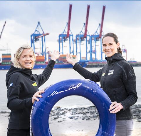 Die Taufpatinnen der neuen Mein Schiff 1 // © TUI Cruises