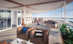 Die X-Lounge auf der Mein Schiff 1