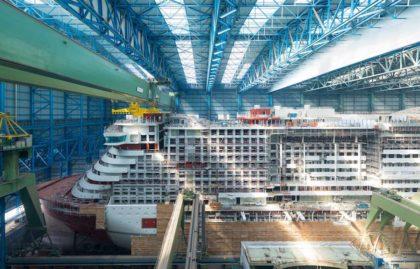 AIDAnova auf der Werft