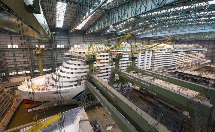 AIDAnova Taufe Meyer Werft
