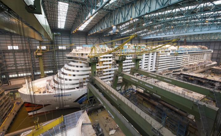 AIDAnova im Bauvorgang // © Meyer Werft