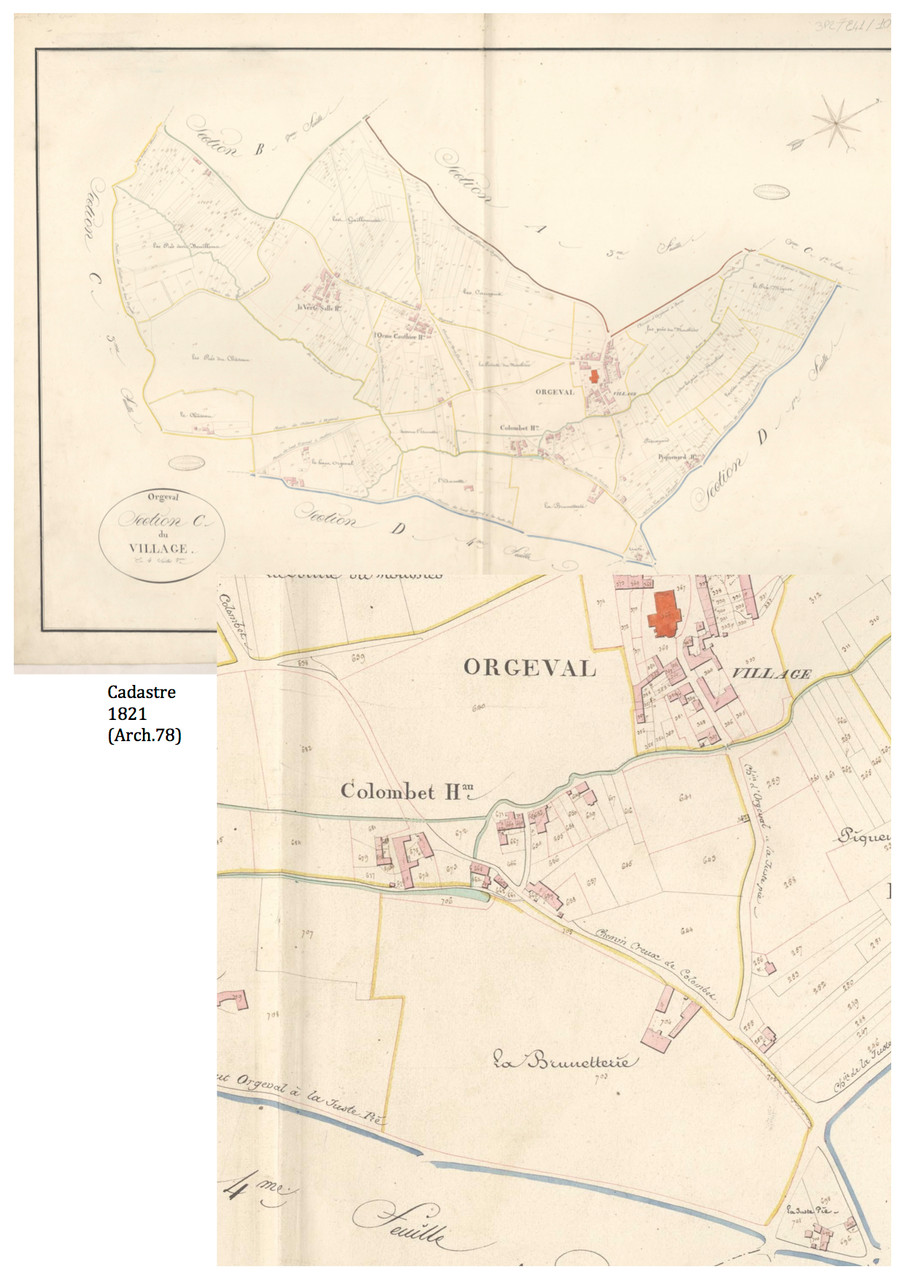 Plan Cadastre Napoléon 1821 - Source: Archives 78