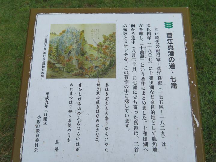 菅江真澄の道 説明板