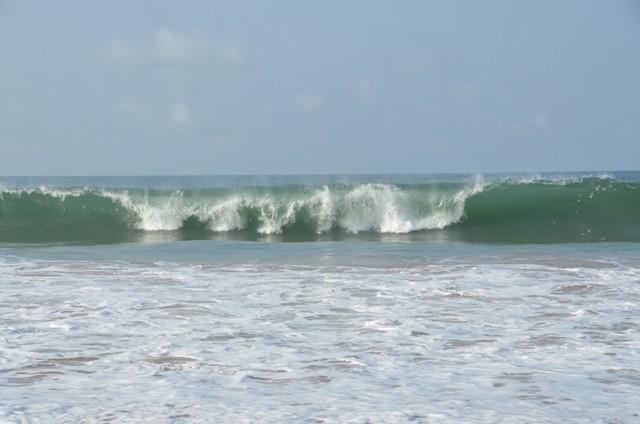Hohe Wellen machen das Schwimmen etwas gefährlich