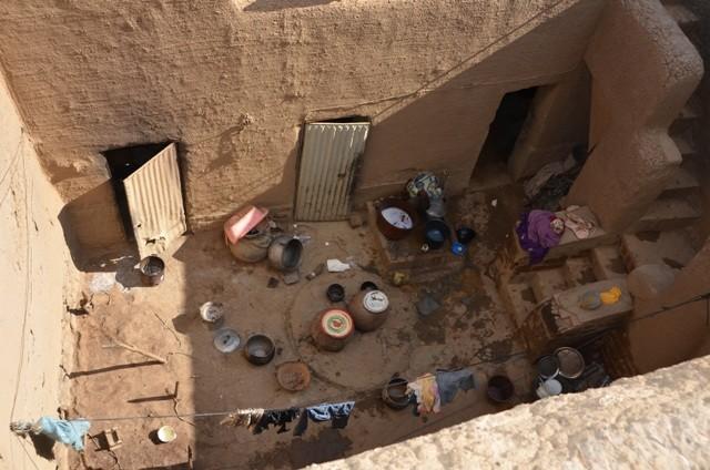 Wohnzimmer eines Hauses in Djenné