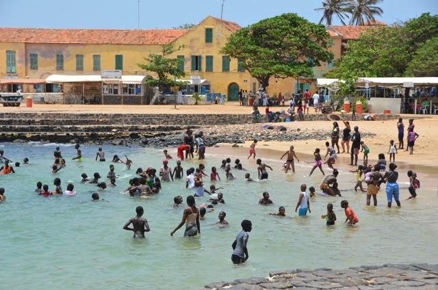 Île de Gorée an einem Sonntag