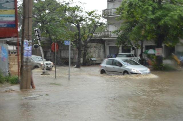 Nach zwei Stunden Dauerregen, mitten in der Stadt