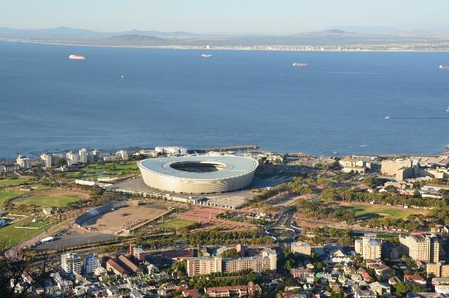 Das neuerbaute WM Stadion...