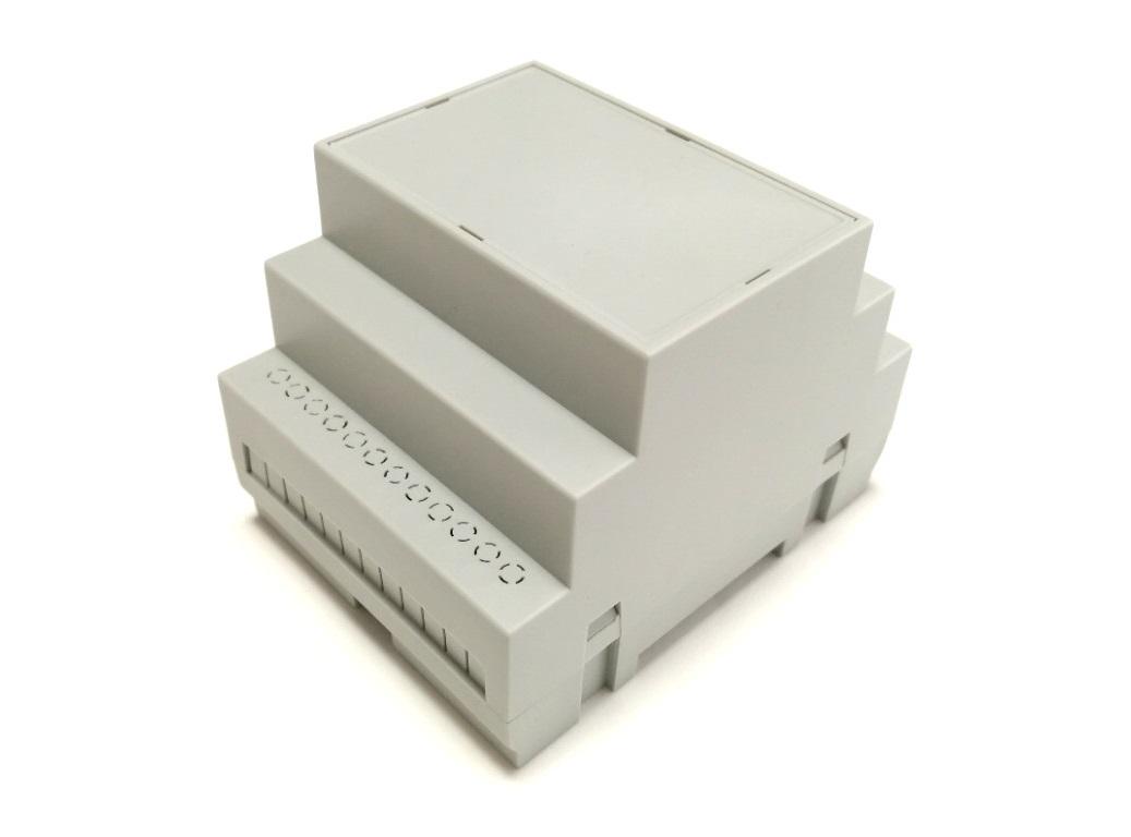 RasPiBox Pico mit Gehäuse grauer Frontplatte
