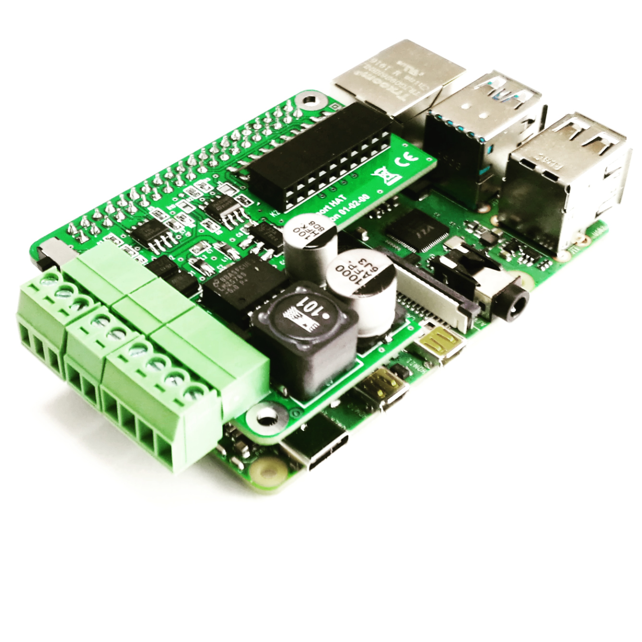 Customized Raspberry Pi HAT including power supply