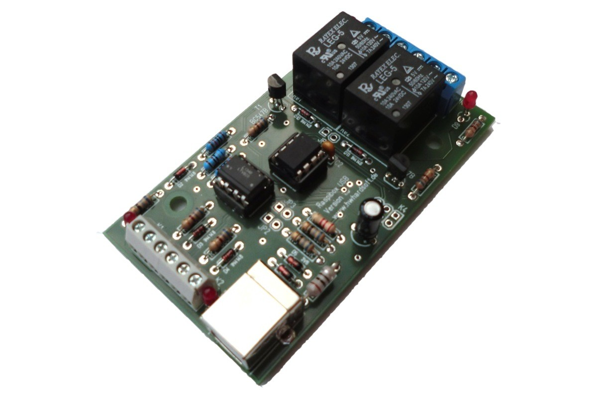 SimpliBox IO - USB HID Relay module for Raspberry Pi and more