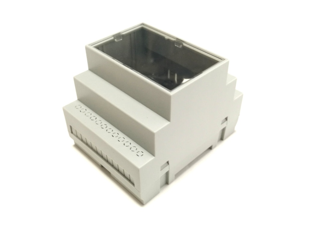 Enclosure side view with transparent lid